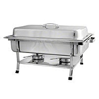 Thunder Group Full Size Stainless Steel Rectangular Chafer With Plastic Footing [SLRCF002]