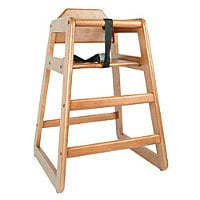 Thunder Group Walnut Finish Rubberwood High Chair 29