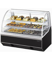 Turbo Air TB-4 - Curved Glass Dry Bakery Case 48""