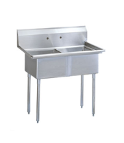 Universal SK1424-2 - Two Compartment Utility Sink - 27""