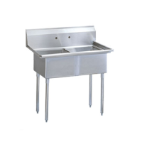 Universal SK1424-2 - Two Compartment Utility Sink - 27