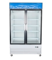 "Universal UGDSW48 48"" Swing Glass Door Merchandiser Reach In Refrigerator"