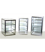 "Carib 6H - 4 Compartment Countertop Upright Display Case 10"" x 10"" x 18"""