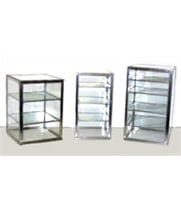 "Carib 8H - 5 Compartment Countertop Upright Display Case 12"" x 12"" x 20"""