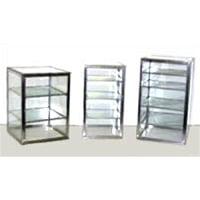 Carib 4 Compartment Countertop Upright Display Case 10