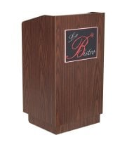 Universal 407ROY733WA - Walnut Host Station / Lectern