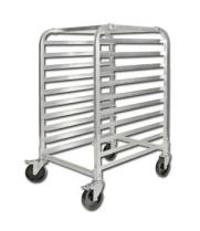 Winco ALRK-10BK - 10 Tier Aluminum Rack with Brakes