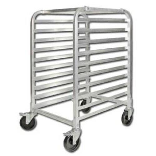 Winco 10 Tier Aluminum Rack with Brakes [ALRK-10BK]