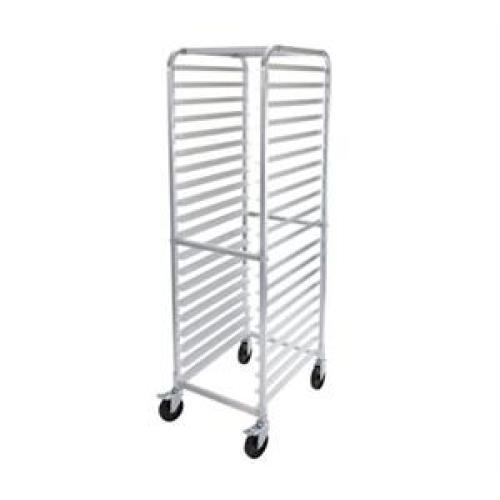 Winco 20 Tier Aluminum Rack with Brakes [ALRK-20BK]