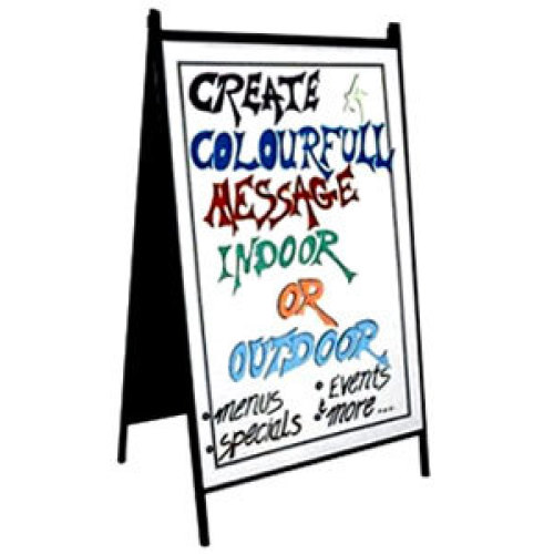 Universal 466RMBA2436W - White A-Frame Easel Write-On Sidewalk Sign ...