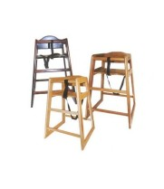 Winco CHH-104A - Walnut Wood Hi-Chair