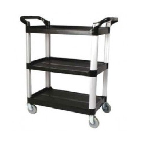 Winco Black 3 Tier Utility Cart [UC-40K]