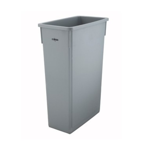 Winco Slender Trash Can, 23 Gallon, Grey [PTC-23SG]