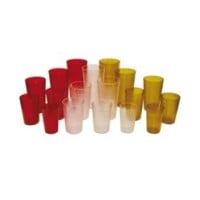 Winco Red Plastic Tumblers 5 oz (12 per Case) [PTP-05R]