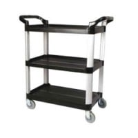Winco Black 3 Tier Utility Cart [UC-35K]