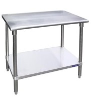 "Universal SS24120 - 120"" X 24"" Stainless Steel Work Table W/ Stainless Steel Under Shelf"