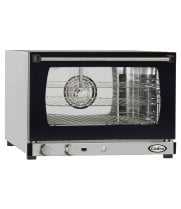 Cadco XAF113 - Half Size - Stainless Steel Convection Oven w/ Humidity - Manual Control - 3 Shelves