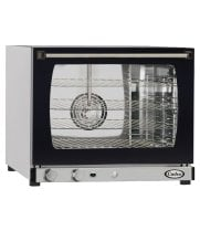 Cadco XAF133 - Half Size - Stainless Steel Convection Oven w/ Humidity - Manual Control - 4 Shelves