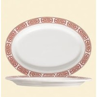C.A.C. China 105-12 - Red Gate Platter 10-1/4