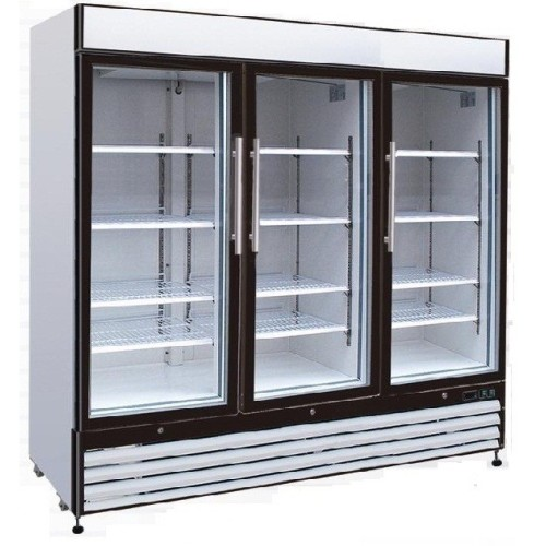 Universal gdrf81sc 81 3 glass door reach in merchandising freezer - Glass door refrigerator freezer ...