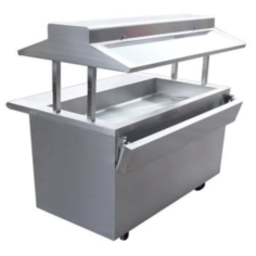 Universal gbt 96 7 well buffet steam table gas for Sideboard petrol