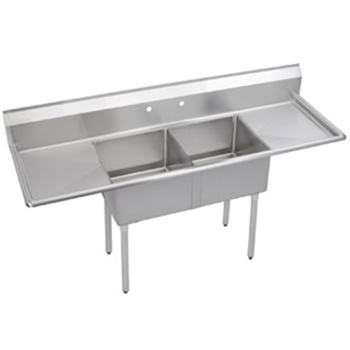 commercial kitchen sinks universal dd2020 2rl 82 quot two compartment draw sink 2394