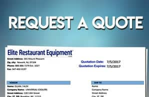 Request a Restaurant Equipment Quote
